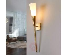 Applique a fiaccola a LED, color ottone Liddy