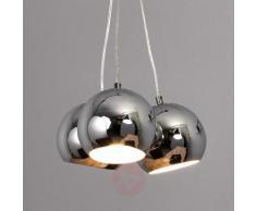Lampada sferica a sospensione LED Pepa, cromo