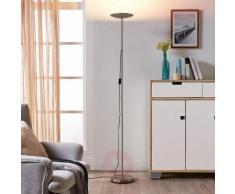Elegante lampada LED da terra Ela nichel satinato