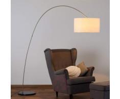 Alia - lampada LED da terra, diffusore in tessuto
