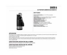Elettropompa Sommersa Multigirante Dab DIVER6700 0,88HP
