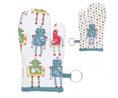 Clayre & Eef Guanto Forno Robot Kids