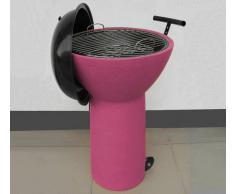 Flow Fusion Design Barbecue Con Ruote Rosa
