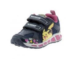 Scarpe bambini Geox J Shuttle Pokemon Scarpe Bambina Strappi Blu Luci J8206DC4268 bambino