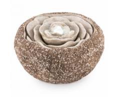 Rosewater Fontana Da Giardino LED 36x19 cm Con Pompa Effetto Pietra Naturale