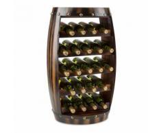 Klarstein Barrica Armadio per Vino in Legno Botte Portabottiglie 22 Bottiglie Abete Rosso