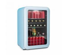 PopLife Frigorifero per Bevande 115 Litri 0-10 °C Design Rétro blu