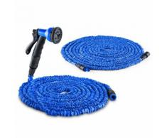Waldbeck Water Wizard Set Tubo Irrigazione 30m Prolunga 30m Blu