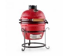 """Klarstein Princesize Barbecue Kamado Griglia in Ceramica 11"""" Smoker BBQ rosso"""