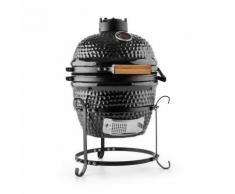"""Klarstein Princesize Barbecue Kamado Griglia in Ceramica 11"""" Smoker BBQ nero"""
