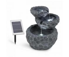 Murach Fontana con Cascata a Batteria 2 kW Pannello Solare 3 LED