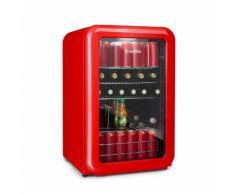 PopLife Frigorifero per Bevande 115 Litri 0-10 °C Design Rétro rosso