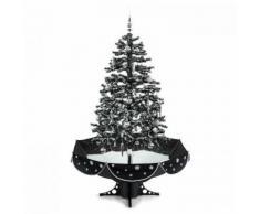 oneConcept Everywhite Albero di Natale Innevato 180cm LED Musica Decorazioni