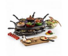 oneConcept Woklette Barbecue Da Tavolo Raclette Wokset 1200 W Antiaderente