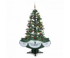 oneConcept Everywhite Albero di Natale Innevato 180cm LED Musica Verde