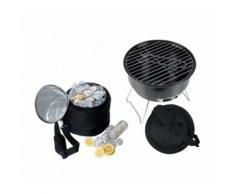 Barbecue da viaggio con borsa termica e griglia viaggio camper