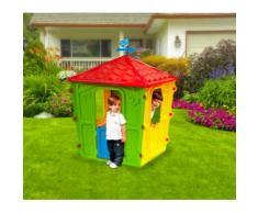 Casetta gioco 102138 COUNTRY PLAY HOUSE da interno ed esterno 152x108x108 cm