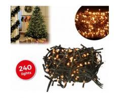 013539 Minilucciole natalizie 240 luci bianche 8 giochi di luci 11,56 metri