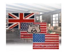 565600 Zerbino design fibra di cocco 35 x 60 CM bandiera inglese o americana