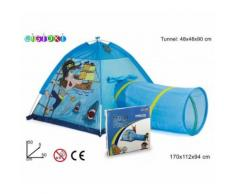 Tenda da gioco dei pirati 170x112x94 cm con tunnel pop up per bambini Linea Cigioki