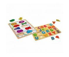Puzzle in legno 404767 LETTERE o NUMERI gioco educativo 20 x 31 x 23 cm