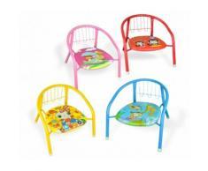 Sedia colorata bambini in metallo 155352 con fischietto 15kg max 36x34x35 cm