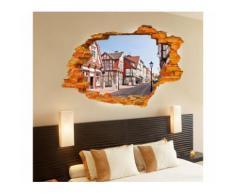 """Adesivo decorativo effetto 3d """" STREET COUNTRY """" wall sticker per arredare con stile 60x90 cm"""