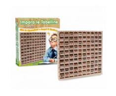 Gioco educativo 401858 IMPARA LE TABELLINE in legno 10 colonne e 10 righe 23cm