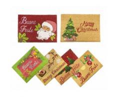 Zerbino tema natalizio 119934 BUONE FESTE in fibra di cocco 50x70 cm antiscivolo