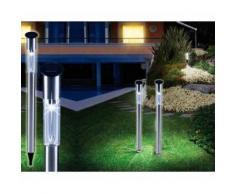 Set 2 Lampade 1 led da 70 cm a energia solare da giardino segnapasso