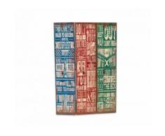 Separè paravento 05979 modello Vintage tela su legno 120 x 180 cm tre pannelli