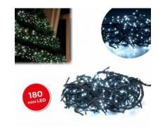 498923 Minilucciole natalizie 180 led bianchi 8 giochi di luci 9,16 metri