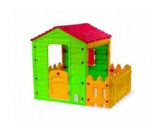 Casetta gioco 219591 MY FARM HOUSE interno esterno 127x118x146 cm con steccato