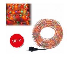 291241 Tubo di luci natalizie 360 lampadine multicolor da esterno 10 mt