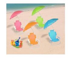 2576 Sedia pieghevole per bambini con ombrellino protezione raggi uv
