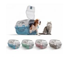 10569 Trasportino in plastica modello Rhino per cani e gatti da viaggio 51 cm