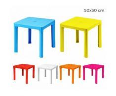 240335 Tavolo per bambini in plastica 50 x 50 cm smontabile in plastica rigida