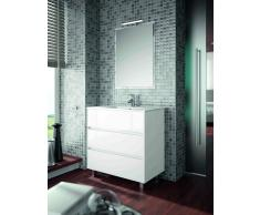 CAESAROO Mobile Bagno Moderno 800 Mm Bianco Con Lavabo Serie Arenys Bianco-Avorio - 800-Mm - Con-Specchio-E-Lampada-Led