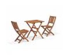 JUTLANDIA® JUTLANDIA Set da balcone Napoli (tavolo, 2 sedie)