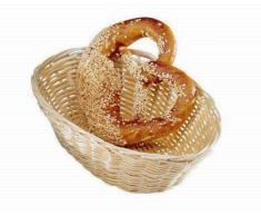 Cestino per pane ovale in Rattan Dimensioni mm. L 230 x P 150 x 65 h Modello 2853