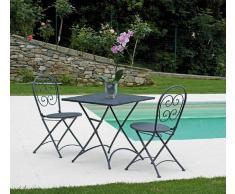 Mobili Giardino Tavolo Orta In Ferro Color Antracite Ftf57