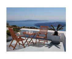 Set da balcone in legno - Tavolino con 2 sedie ripiegabili - TOSCANA