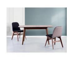Tavolo da pranzo estendibile in legno marrone - Tavolo da cucina - 120x75cm - MADOX