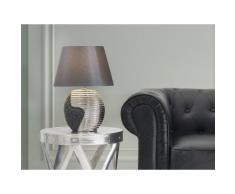 Lampada - Da tavolo - Da comodino - Colore nero/argento - ESLA