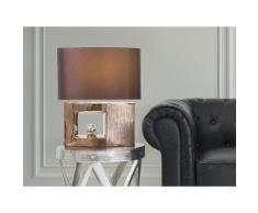 Lampada - Da tavolo - Da comodino - Colore marrone - DUERO
