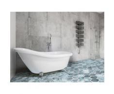 Vasca da bagno freestanding ovale in acrilico bianco - CAYMAN