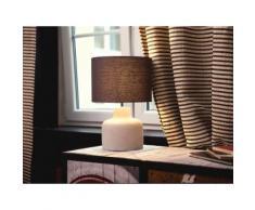 Lampada da tavolo grigia - Lampada da comodino - BHIMA