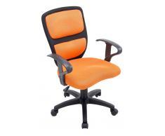 CLP Sedia per scrivania da bambini Einstein , nero / arancione, polipropilene, altezza regolabile 43 - 53 cm