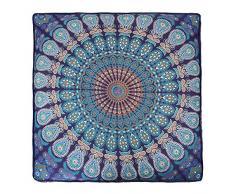 Esclusivo piazza indiano pavone Mandala arazzo grande quadrato cuscino da pavimento pouf ottomano della Boemia meditazione seduta 88,9 x 88,9 cm