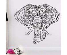wopiaol Adesivi murali Luminosi Foo Murale Mobile Elefante Indiano Mandala Hippie Matrimonio 65X57 cm